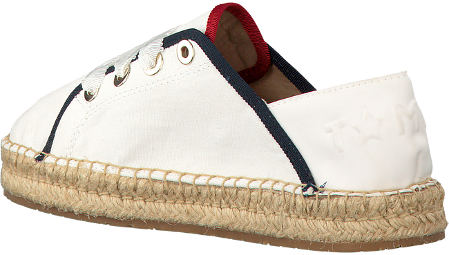 Witte TOMMY HILFIGER Espadrilles TH METALLIC LACE UP ESPADRILLE  - large