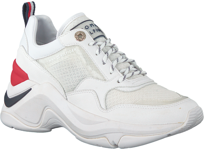 Witte TOMMY HILFIGER Lage sneakers INTERNAL WEDGE SPORTY  - large