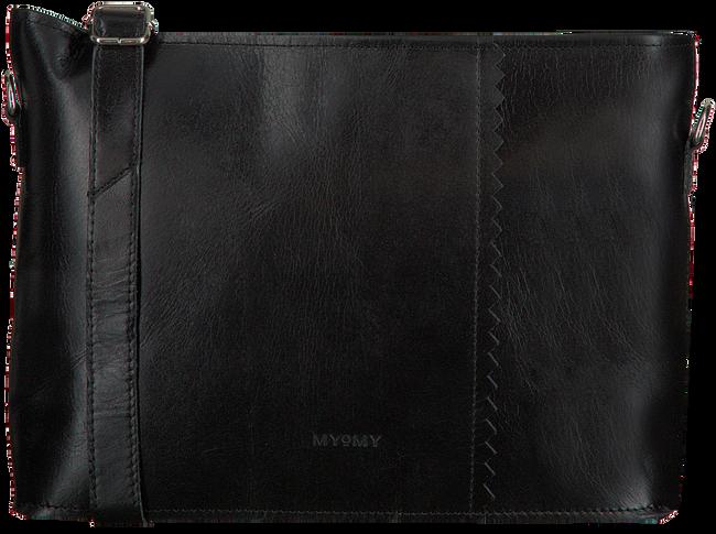 Zwarte MYOMY Schoudertas MY PAPER BAG WRAPPED CROSSBODY  - large