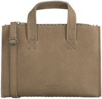 Taupe MYOMY Handtas MY PAPER BAG HANDBAG MINI - medium