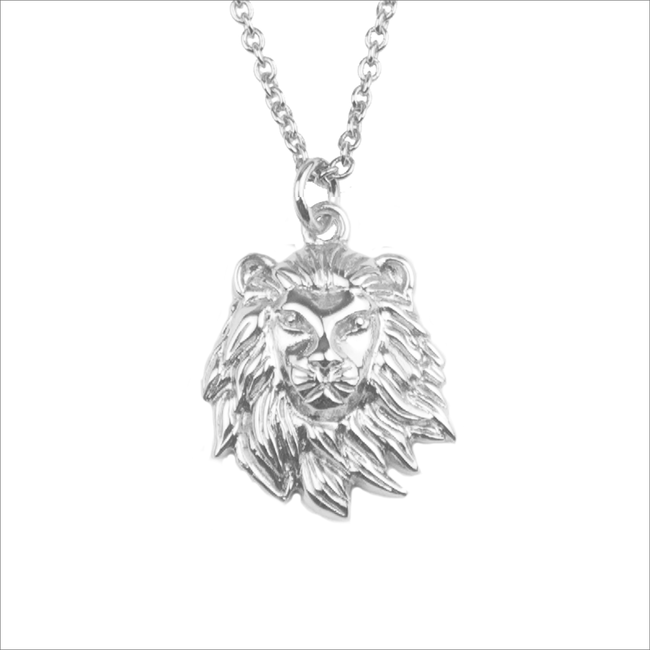 Zilveren ALLTHELUCKINTHEWORLD Ketting SOUVENIR NECKLACE LION - large
