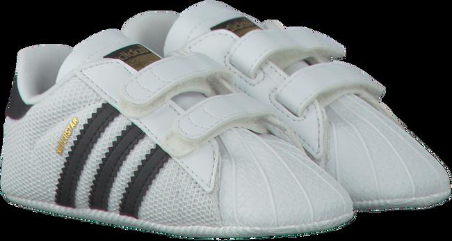 Witte ADIDAS Babyschoenen SUPERSTAR CRIB  - large
