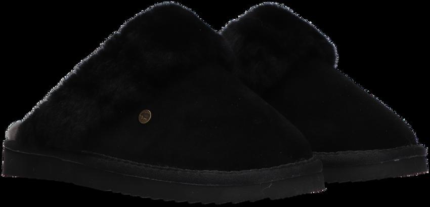 Zwarte WARMBAT Pantoffels FLURRY  - larger
