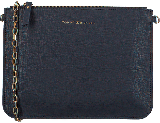 Blauwe TOMMY HILFIGER Schoudertas MIX N MATCH POUCH - large