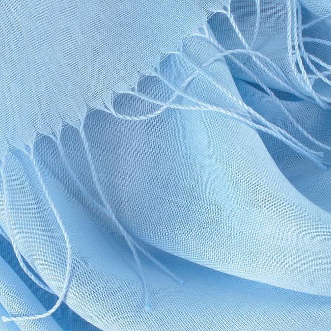 Blauwe ROMANO SHAWLS AMSTERDAM Sjaal PASH PLAIN  - large