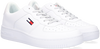 Witte TOMMY HILFIGER Lage sneakers REFLECTIVE CUPSOLE - small