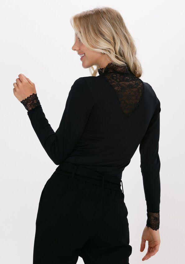Zwarte MINUS Top VANESSA V-CUT BLOUSE - larger
