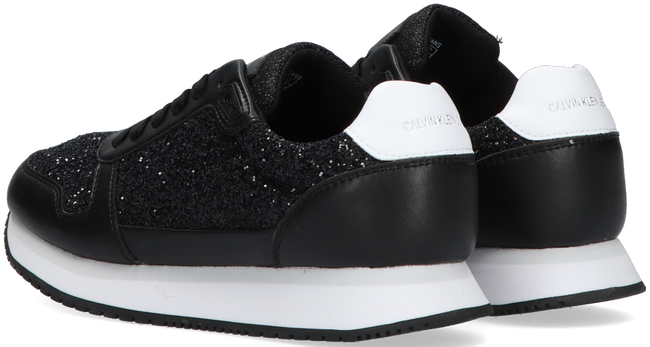 Zwarte CALVIN KLEIN Lage sneakers RUNNER LACE UP GLITTER - large