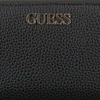 Zwarte GUESS Portemonnee ALBY SLG LARGE ZIP AROUND  - small