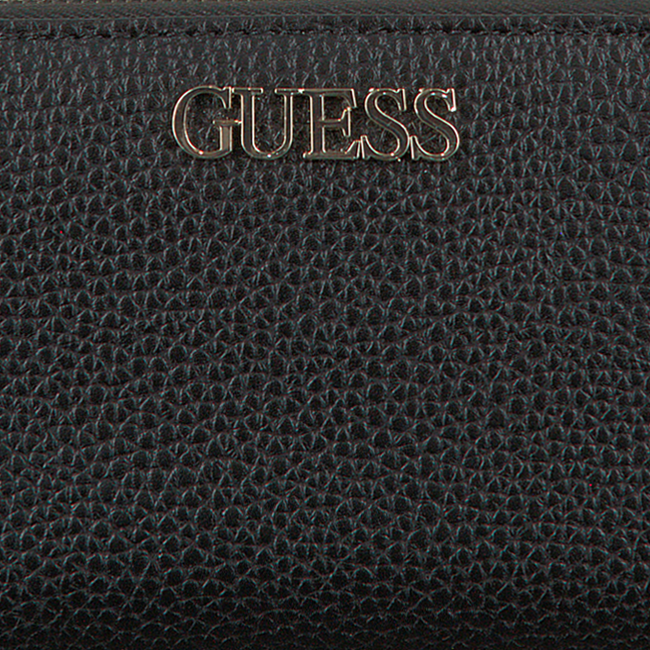 Zwarte GUESS Portemonnee ALBY SLG LARGE ZIP AROUND  - large
