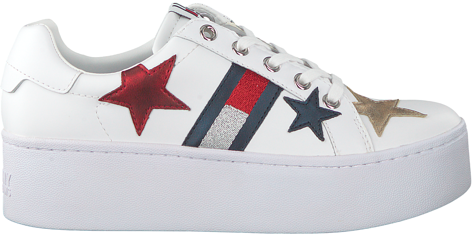 7ea1117ed75f87 Witte TOMMY HILFIGER Sneakers TOMMY JEANS ICON SPARKLE JEANS - Omoda.nl