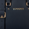 Blauwe TOMMY HILFIGER Schoudertas TH CORPORATE MINI TRUNK  - small