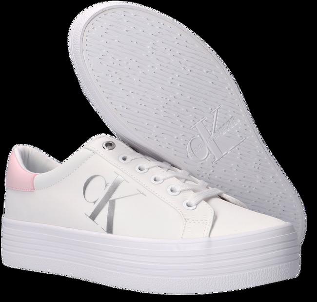 Witte CALVIN KLEIN Lage sneakers VULCANIZED FLATFORM LACEUP  - large