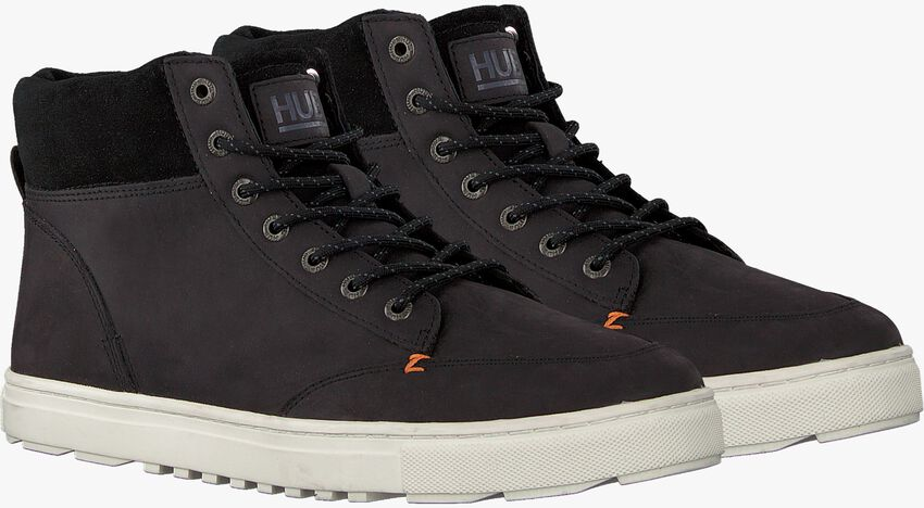 Zwarte HUB Hoge sneaker GLASGOW  - larger