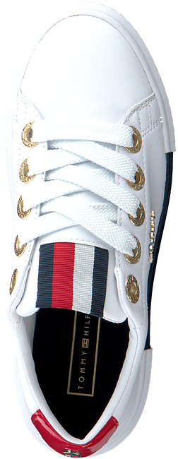 Witte TOMMY HILFIGER Lage sneakers LEATHER ELEVATED TOMMY  - large