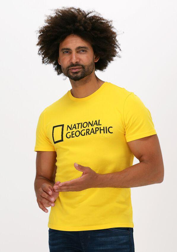 Gele NATIONAL GEOGRAPHIC T-shirt UNISEX T-SHIRT WITH BIG LOGO  - larger