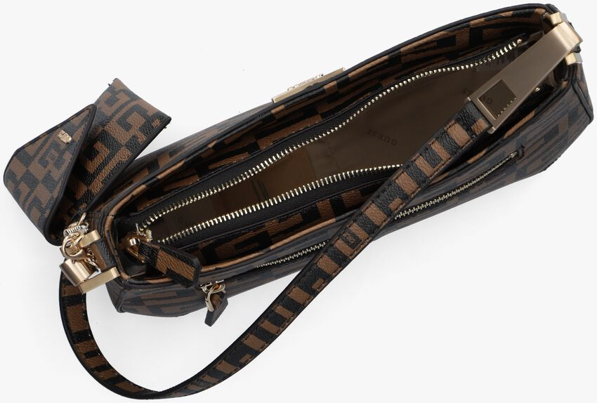 Bruine GUESS Schoudertas 40TH ANNIVERSARY SHOULDER BAG  - larger