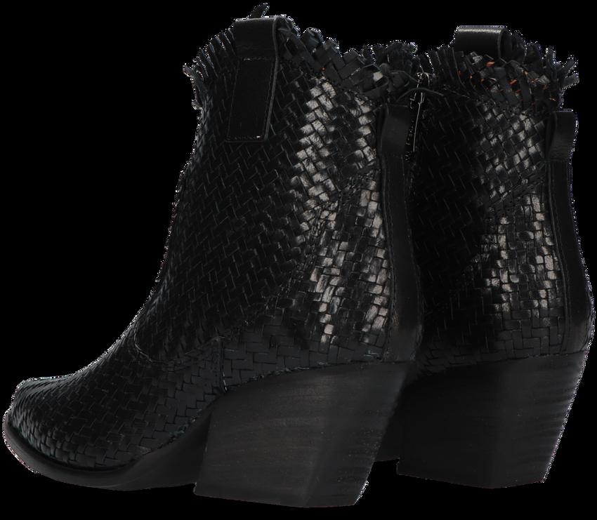Zwarte NOTRE-V Enkellaarsjes AH373  - larger