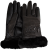 Zwarte UGG Handschoenen CLASSIC LEATHER LOGO GLOVE - small