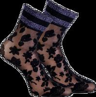 Zwarte MARCMARCS Sokken PIZZO FLOWER  - medium