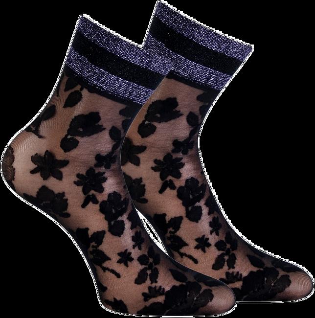 Zwarte MARCMARCS Sokken PIZZO FLOWER  - large