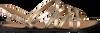 Gouden TOMMY HILFIGER Sandalen METALLIC STRAPPY FLAT SANDAL - small