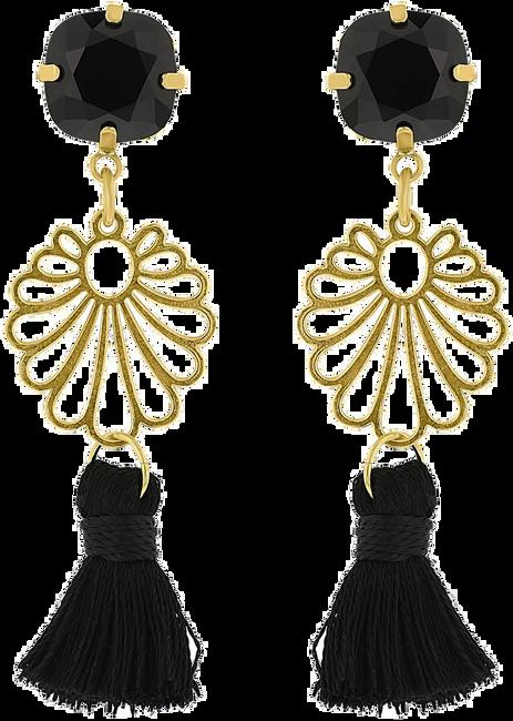 Zwarte JEWELLERY BY SOPHIE Oorbellen IBIZA EARRINGS - large