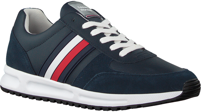 Blauwe TOMMY HILFIGER Lage sneakers MODERN CORPORATE RUNNER  - large