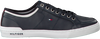 Blauwe TOMMY HILFIGER Sneakers CORE CORPORATE LEATHER SNEAKER  - small