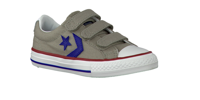 Taupe CONVERSE Sneakers STAR PLAYER OX KIDS  - large