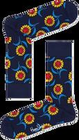 Blauwe HAPPY SOCKS Sokken SUNFLOWER - medium