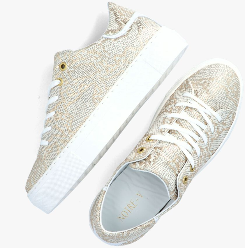Gouden NOTRE-V Lage sneakers J4850E - larger