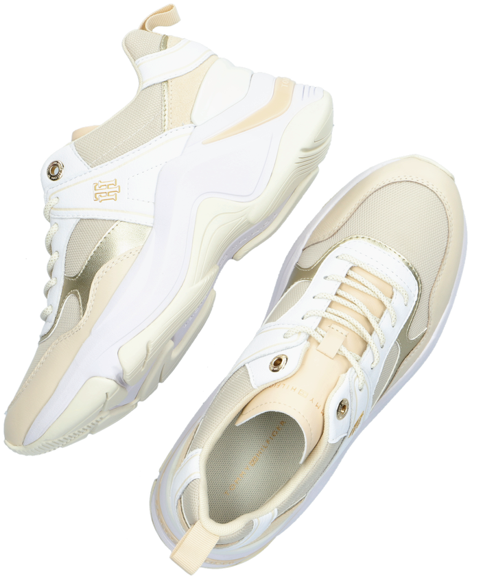 Witte TOMMY HILFIGER Lage sneakers FASHION WEDGE  - larger