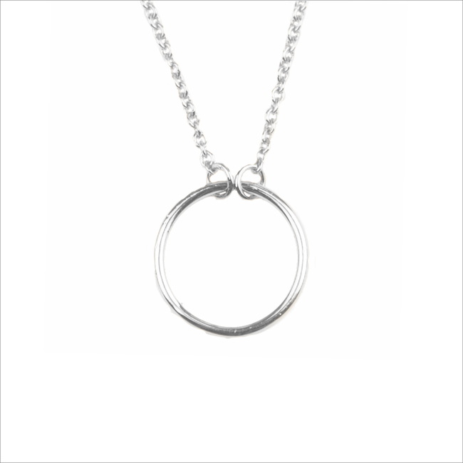 Zilveren ALLTHELUCKINTHEWORLD Ketting SOUVENIR NECKLACE CIRCLE - large