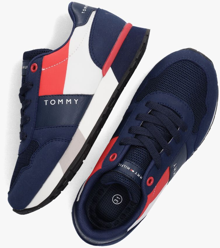 Blauwe TOMMY HILFIGER Lage sneakers 32074  - larger