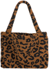 Bruine STUDIO NOOS Shopper TEDDY LEOPARD MOM-BAG  - small