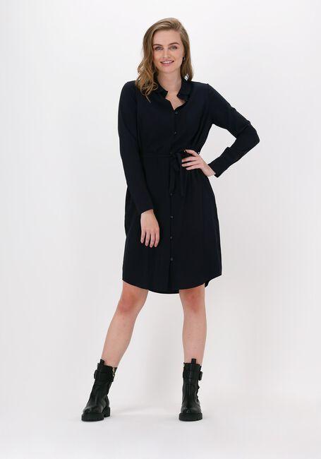 Zwarte ANOTHER LABEL Midi jurk PECK DRESS L/S  - large