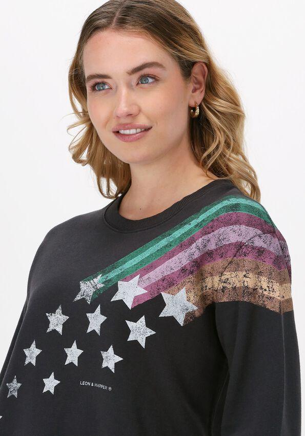 Antraciet LEON & HARRPER Sweater SORTIE JC55 COMET  - larger