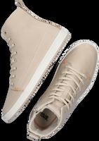 Beige HUB Hoge sneaker BASE  - medium