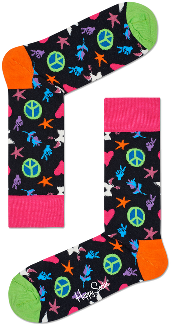 HAPPY SOCKS SOKKEN PEACE AND LOVE - large