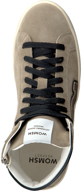 Taupe WOMSH Hoge sneaker BASK - large