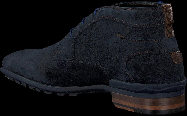 Blauwe FLORIS VAN BOMMEL Veterschoenen 10629