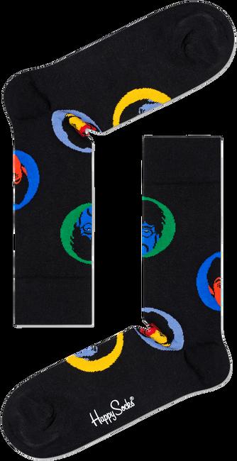 Zwarte HAPPY SOCKS Sokken BEATLES BRIGHT SPOT SOCK  - large