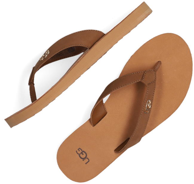 Bruine UGG Slippers TAWNEY  - large