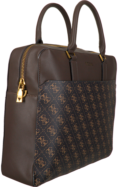 Bruine GUESS Laptoptas VEZZOLA BRIEFCASE  - large