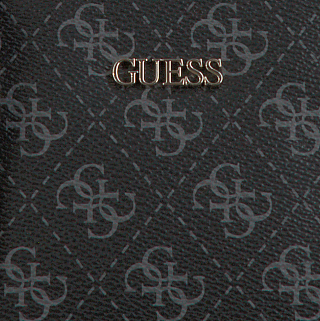 Zwarte GUESS Schoudertas ARIE DOUBLE POUCH  - large