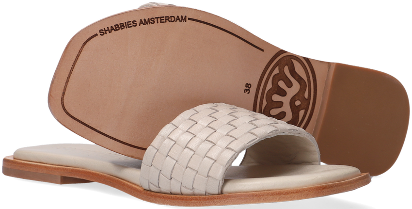 Witte SHABBIES Slippers 170020171  - larger