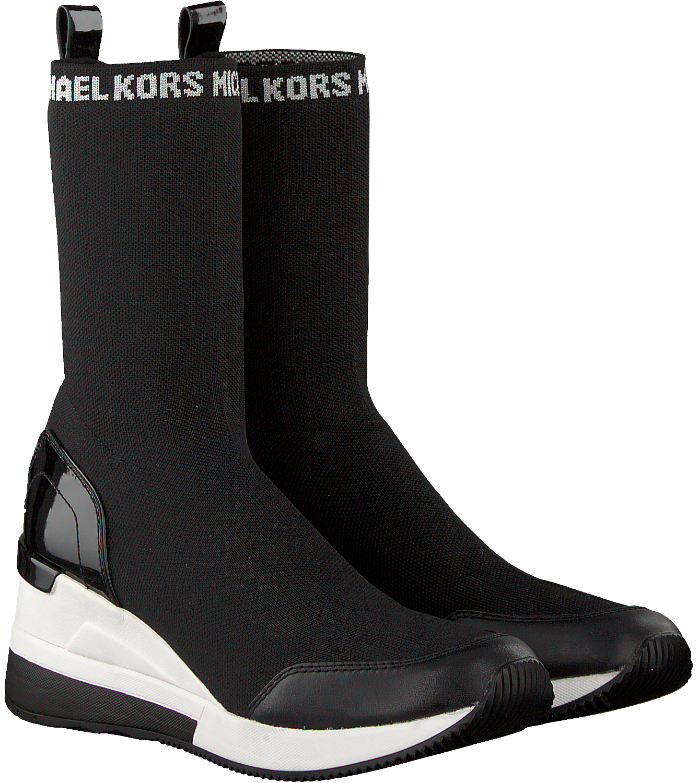 8e8be647bd1 Zwarte MICHAEL KORS Enkelboots GROVER KNIT BOOTIE - large. Next