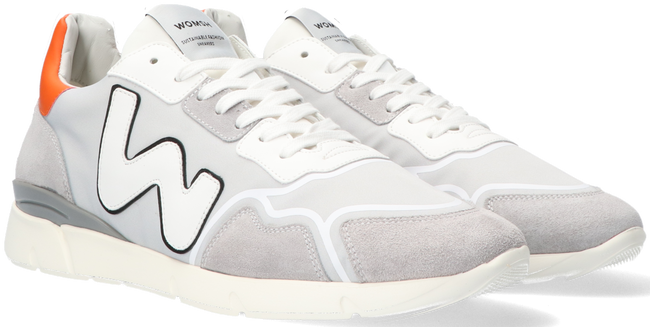 Grijze WOMSH Lage sneakers RUNNY HEREN  - large