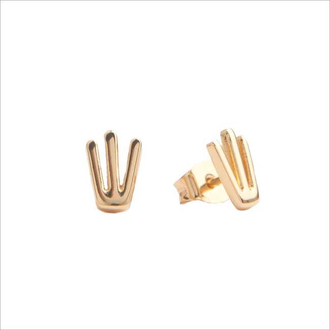 Gouden ATLITW STUDIO Oorbellen PARADE EARRINGS TRIDENT - large